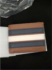 Coach Slim Billfold Leather Wallet With Varsity Stripe F26171