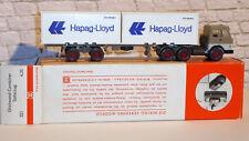 1:87 Wiking 521 Glattwand -Container Sattelzug Hapag Lloyd OVP