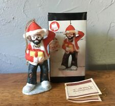 Emmett Kelly Jr. Christmas Ornament Clown Hand Signed W/Box Flambro Gift Present