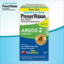 Bausch & Lomb PreserVision AREDS 2 Formula Eye Supplement Soft Gels, 210 Count