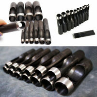 1pc Round Hollow Punch Set Hand Tools Hole Punching Leather Gasket CARBON Steel