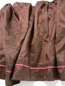 "Bedskirt King Size VERATEX Elegant Brown w/ Rose Accent 78"" x  80"" 18"" Drop Mint"