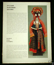 BOOK Russian Folk Costume ethnic dress peasant clothing jewelry embroidery gold