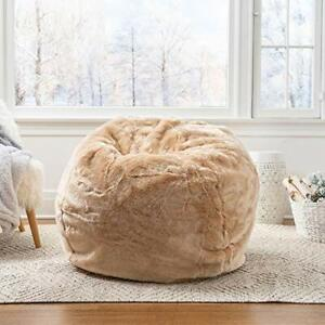 Bean Bag Cover Brown Fur Attractive Sofa Chair Without Beans for a luxuries Home
