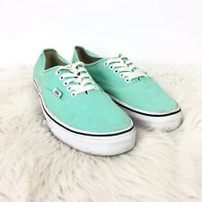 Vans 11 M Womens Mint Blue Lace-up Canvas Sneakers