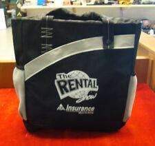 "Black & Gray Advertising "" The Rental Show "" 15 x 12 x 5 Tote Drawstring Backpac"
