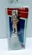 Vintage Fort Usa Great American Collectors Astronaut Handle Bell Pewter Nos
