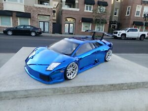 200mm Custom Paint LAMBO 4Tec HPI TC7 Lipo Drift MST 1/10 257mm Body Only