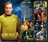 Ghana 2016 MNH Star Trek 50th Anniv Captain James Kirk 6v M/S Stamps