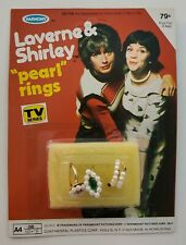 "Vintage Laverne & Shirley Toy ""Pearl"" Rings New Sealed MOC 1977 Harmony Scarce"