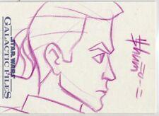Star Wars Galactic Files Sketch Card Howard Shum