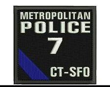 Metropolitan Police 7 CTSFO embroidery patches 4x4 hook
