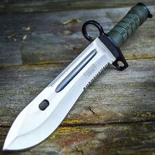 "13"" Bayonet US Military Tactical Survival Hunting Knife Fixed Blade Rambo Army"
