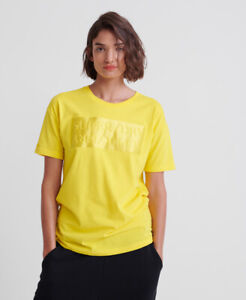 Superdry Womens Edit Satin Portland Organic Cotton T-Shirt