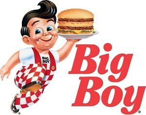 Frisch's Shoney's Big Boy Framed Mirror Sign