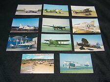 X11 Vintage Military Aircraft Postcards Unused