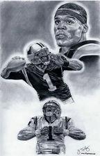 Cam Newton Carolina Panthers poster drawing ART