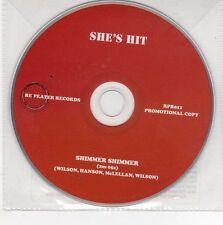 (EG387) She's Hit, Shimmer Shimmer - 2011 DJ CD