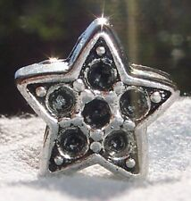Star Nickel Free Large Hole Spacer Bead Gift for Silver European Charm Bracelets