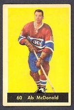 1960 61 PARKHURST HOCKEY 60 AB McDONALD VG-EX MONTREAL CANADIENS