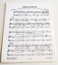 Partition vintage sheet music LEVEL / VINCENT : Delphine * 60's BO ERIC LE HUNG
