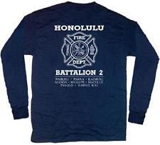Honolulu Fire Dept Battalion 2 T-shirt  XL Long Sleeves