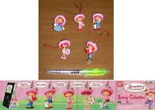 SET 5 Figure FRAGOLINA Dolcecuore STRAWBERRY SHORTCAKE DANGLERS SWING Bandai NEW