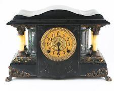 Seth Thomas Adamantine Mantle Clock Larkin Model 35 c1900 w/ Original Bob & Key
