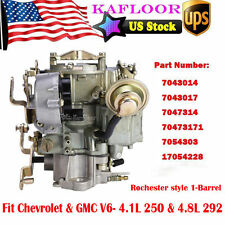 1-Barrel Carb Carburetor For Chevrolet Chevy GMC V6 6CYL 4.1L 250 4.8L 292