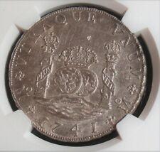 Mexico: Philip V Pillar 8 Reales 1741 Mo-MF, MS61 NGC.