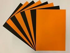 HALLOWEEN BLACK & ORANGE A4 CRAFT DECORATION PRINTER CARD 160gsm