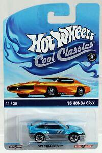 Hot Wheels '85 Honda CR-X Cool Classics Series Yellow Card #BDR32 NRFP Blue 1:64