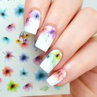 Nagel Kunst Nagelsticker Wassertransfer Tattoo Nail Aufkleber Blumen DS-310