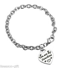 "1PC Stainless Steel ""You are my Sunshine"" DIY Cross Penguin Pendant Bracelets"