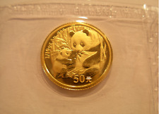China 2005 Gold 1/10 oz Panda 50 Yuan Original Mint Sealed BU
