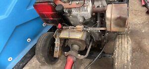 industrial plus little beaver auger. Red, 8HP Motor