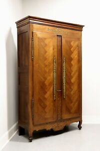 Antique 18th Century Inlaid Walnut French Country Louis XV Armoire