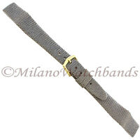18mm Hirsch Gray Genuine Lizard Unstitched Open Ended Watch Band Regular