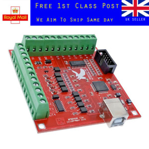 CNC USB MACH3 100Khz Breakout Board 4 Axis Interface Driver Motion Controller UK