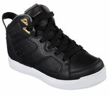 Boys Girls Skechers 90615L S Lights Energy Lights 2.0 Street Quest 2 Black Shoes