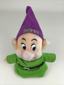 "Disney Store Dopey 8"" Plush Stuffed Toy Snow White and The Seven Dwarfs Vintage"