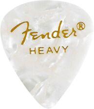 Fender 351 Premium Celluloid Guitar Picks - WHITE MOTO, HEAVY 144-Pack (1 Gross)