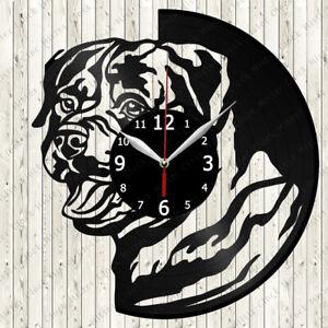 Rottweiler Vinyl Record Wall Clock Decor Handmade 5791
