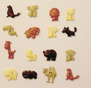 Animal Shaped 2 Hole Buttons - Craft, Quilting and Sewing - Various Pack Sizes