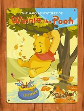 TIN SIGN Disney's Winnie The Pooh Attraction Ride Art Poster