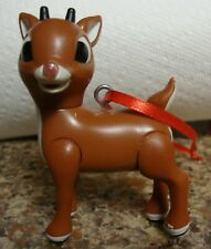 Rudolph The Red Nosed Reindeer I Talk And Sing My Nose Glows Ornment new battery