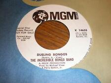 The Incredible Bongo Band 45 Dueling Bongos MGM PROMO