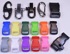 Buckle Starter Pack - Includes 17 Buckles and Clips! - Great for Paracord!