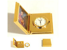 Elegant Gold-Plated Pocket Watch With Photo Frame