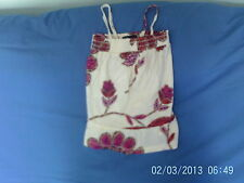 Girls 4-5 Years - Cream with Pink/Red Floral Sleeveless Tunic Top - Gap